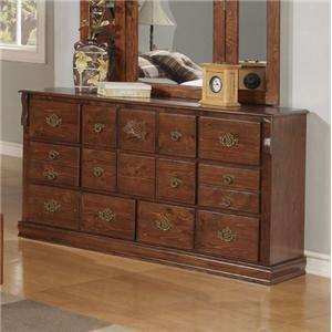Traditional Fourteen Drawer Dresser
