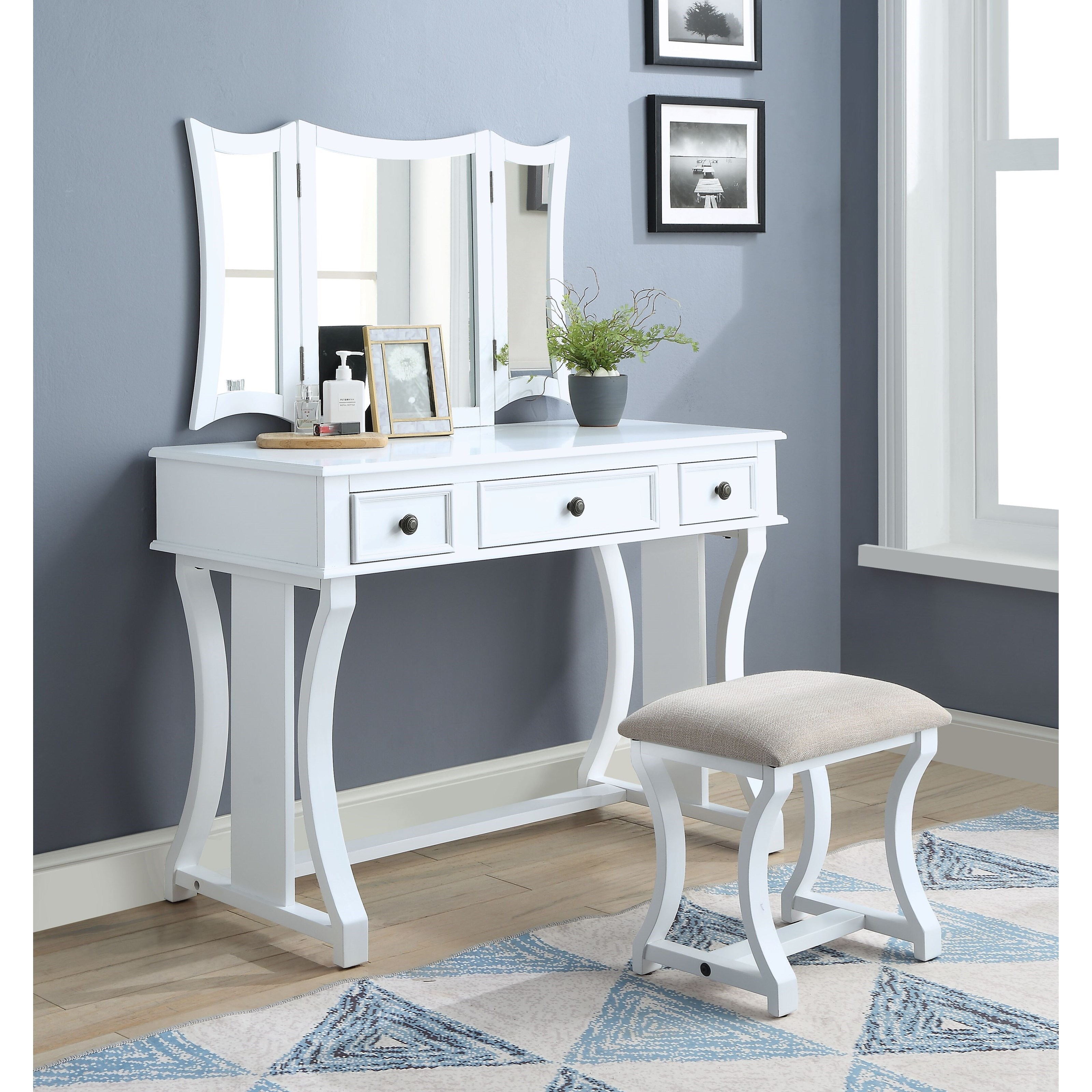 Popidia Vanity Set by Acme Furniture at Nassau Furniture and Mattress