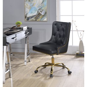 Contemporary Office Chair with Button Tufting and Nailhead Trim