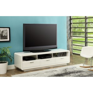 Contemporary TV Stand with 3 Drawers and Open Compartments