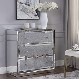 Console Table with Faux Crystal Drawer Fronts
