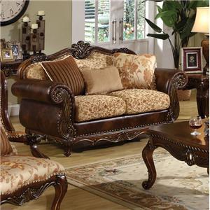 Acme Furniture Remington  Stationary Loveseat W/3 Pillows