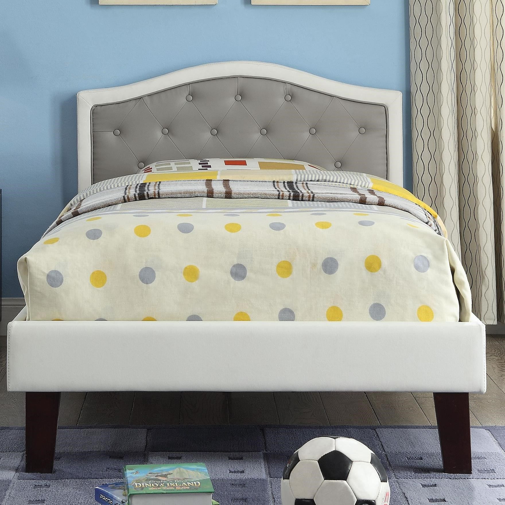 Rheanna Twin Upholstered Bed by Acme Furniture at Carolina Direct