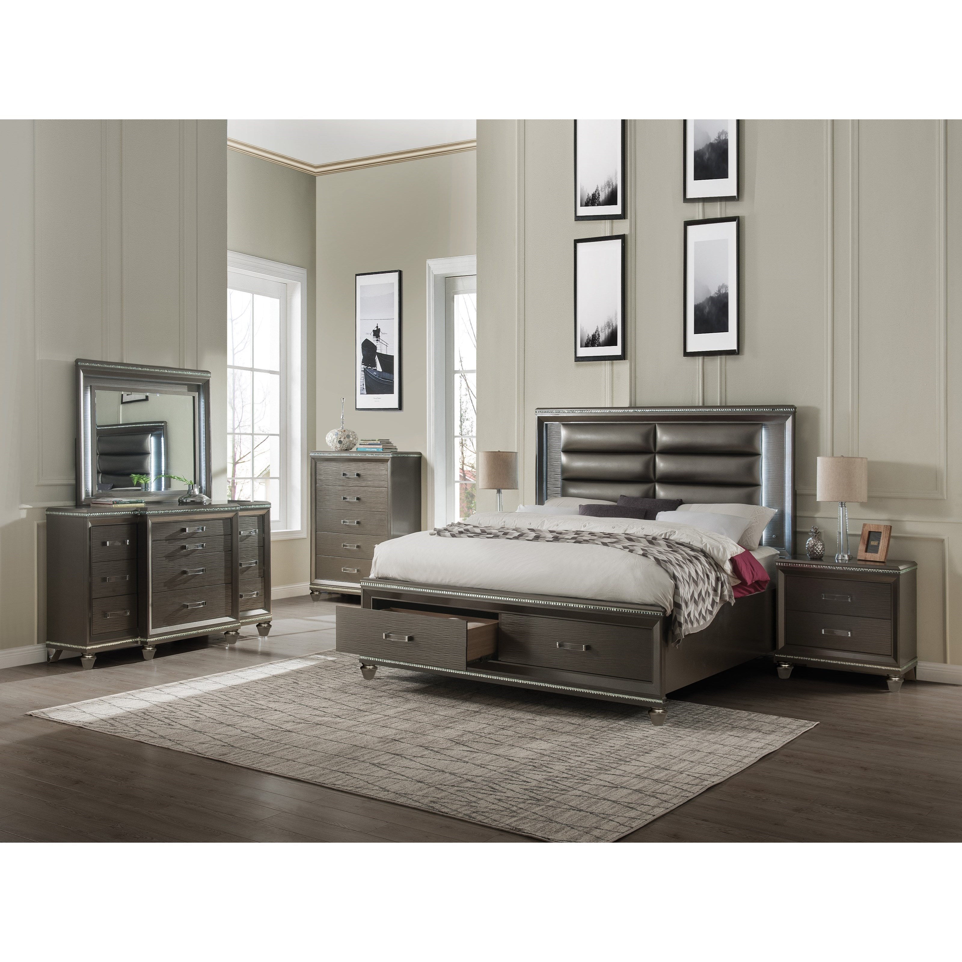 Sadie Queen Bedroom Group by Acme Furniture at Carolina Direct