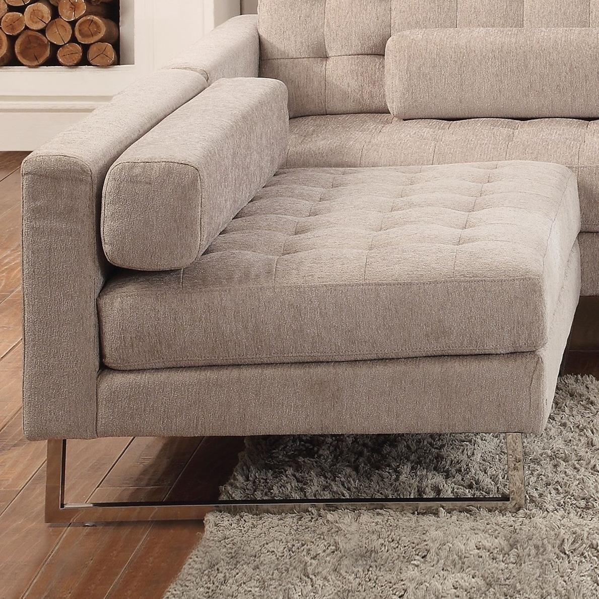 Sampson Armless Chair by Acme Furniture at A1 Furniture & Mattress
