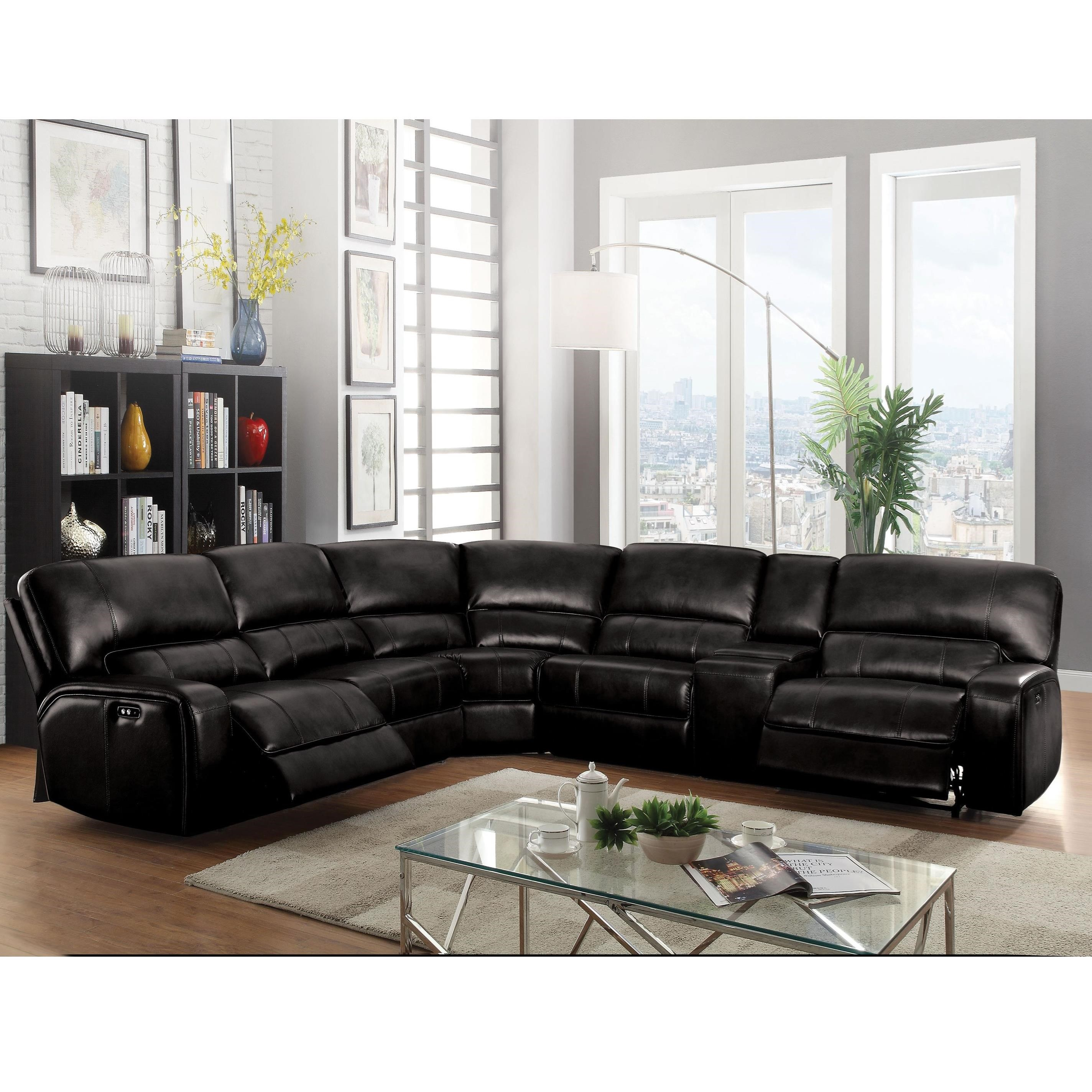 Saul Reclining Sectional by Acme Furniture at A1 Furniture & Mattress