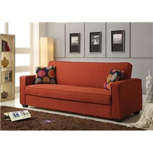 Linen Adjustable Sofa W/Storage and Pillows