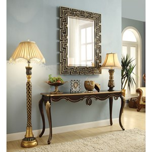 Traditional Console Table with Bronze Finish