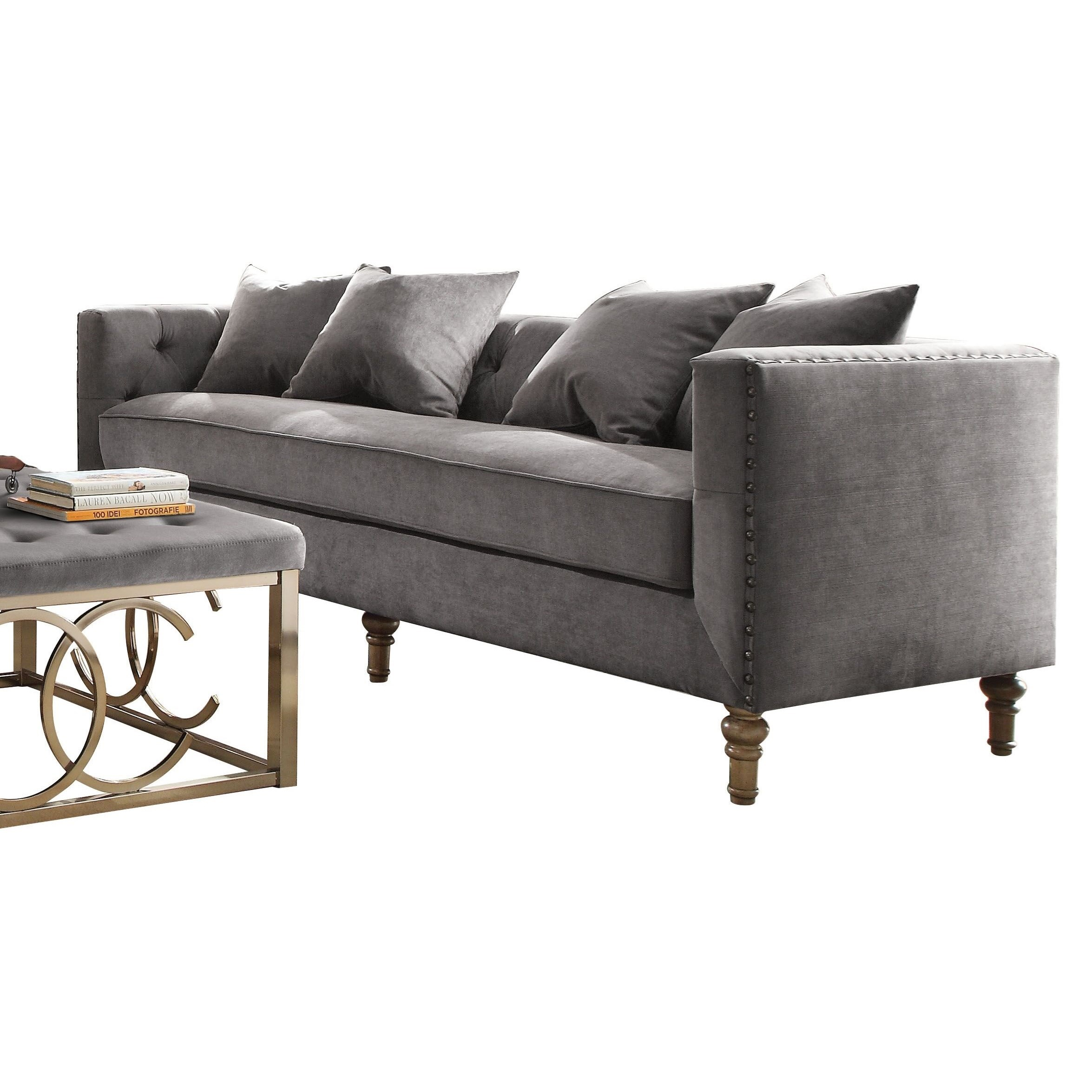 Sidonia Sofa with 4 Pillows by Acme Furniture at Carolina Direct