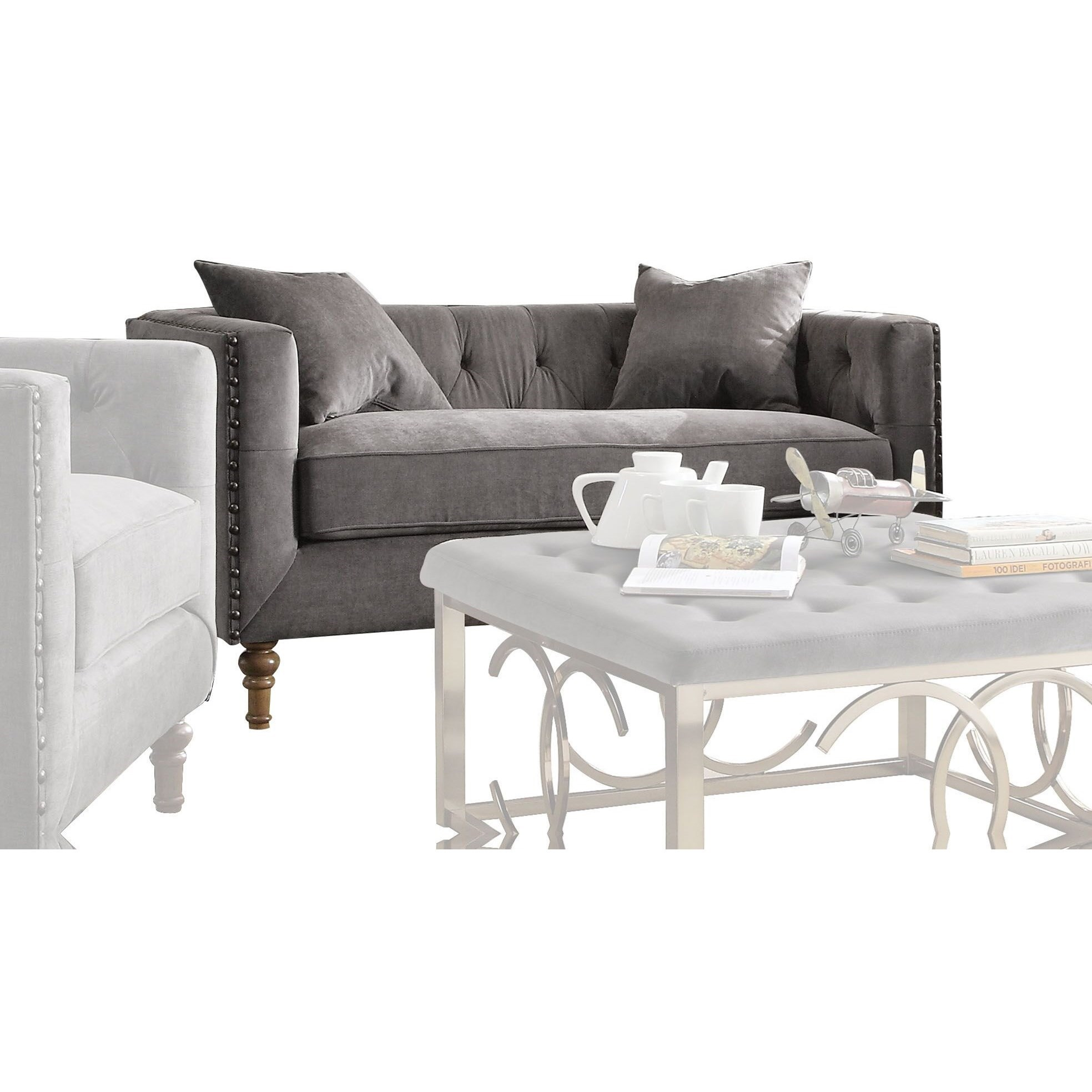 Sidonia Loveseat with 2 Pillows by Acme Furniture at Carolina Direct