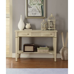 Transitional Console Table with Antique Finish