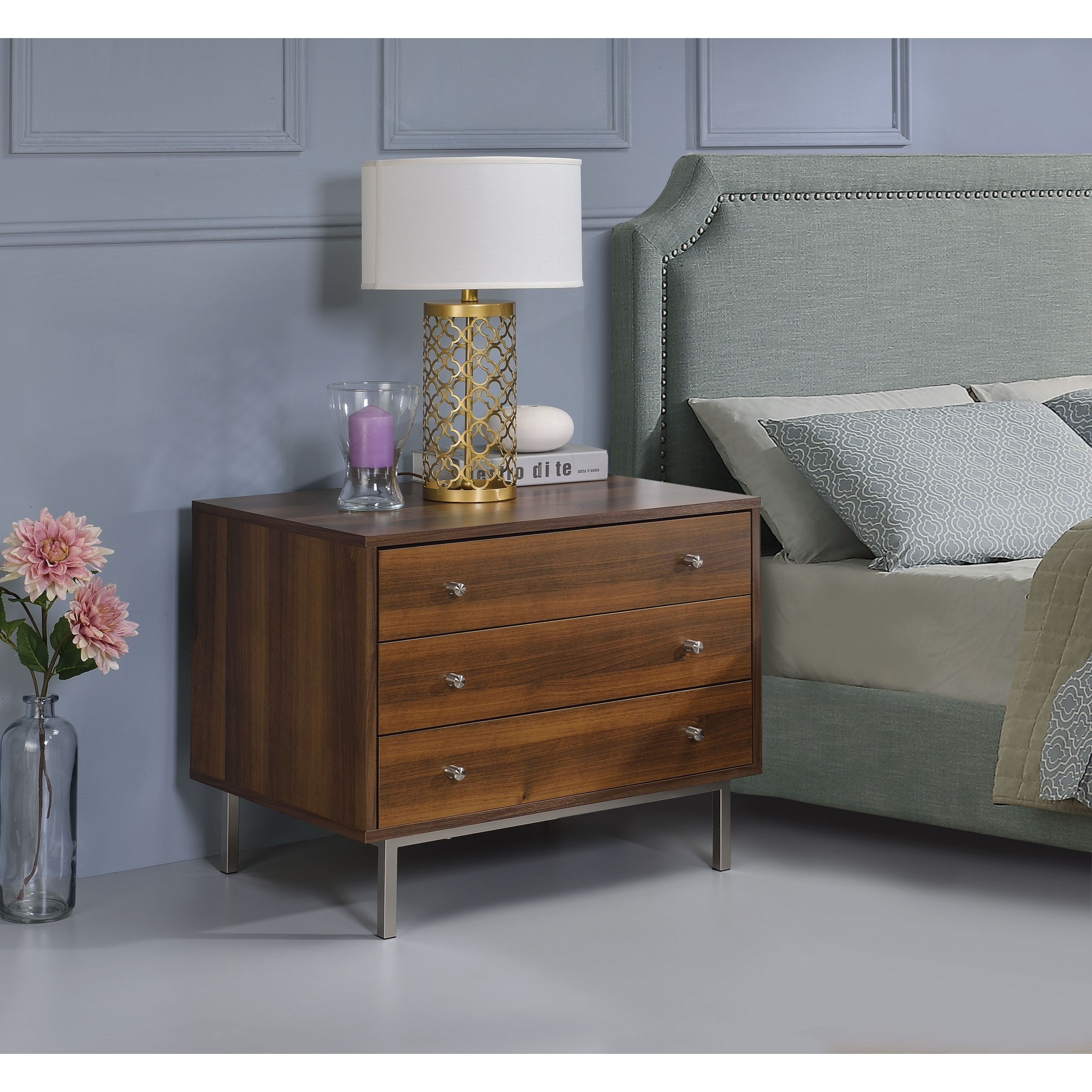 Sterret Nightstand by Acme Furniture at A1 Furniture & Mattress