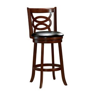 Contemporary Swivel Counter Stool with Knot Lattice Back