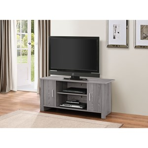 Contemporary TV Stand with Wire Access Ports