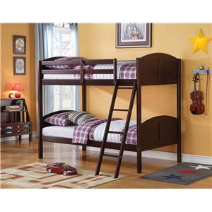 Espresso Twin Bunk Bed