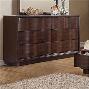 Contemporary Six-Drawer Dresser
