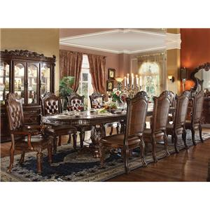 11 Piece Double Pedestal Table and Chairs Set