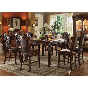 Acme Furniture Vendome 9 Piece Table and Chairs Set