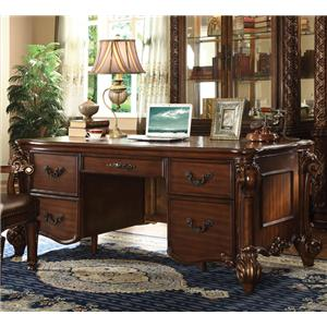 Double Pedestal Desk with 5 Drawers