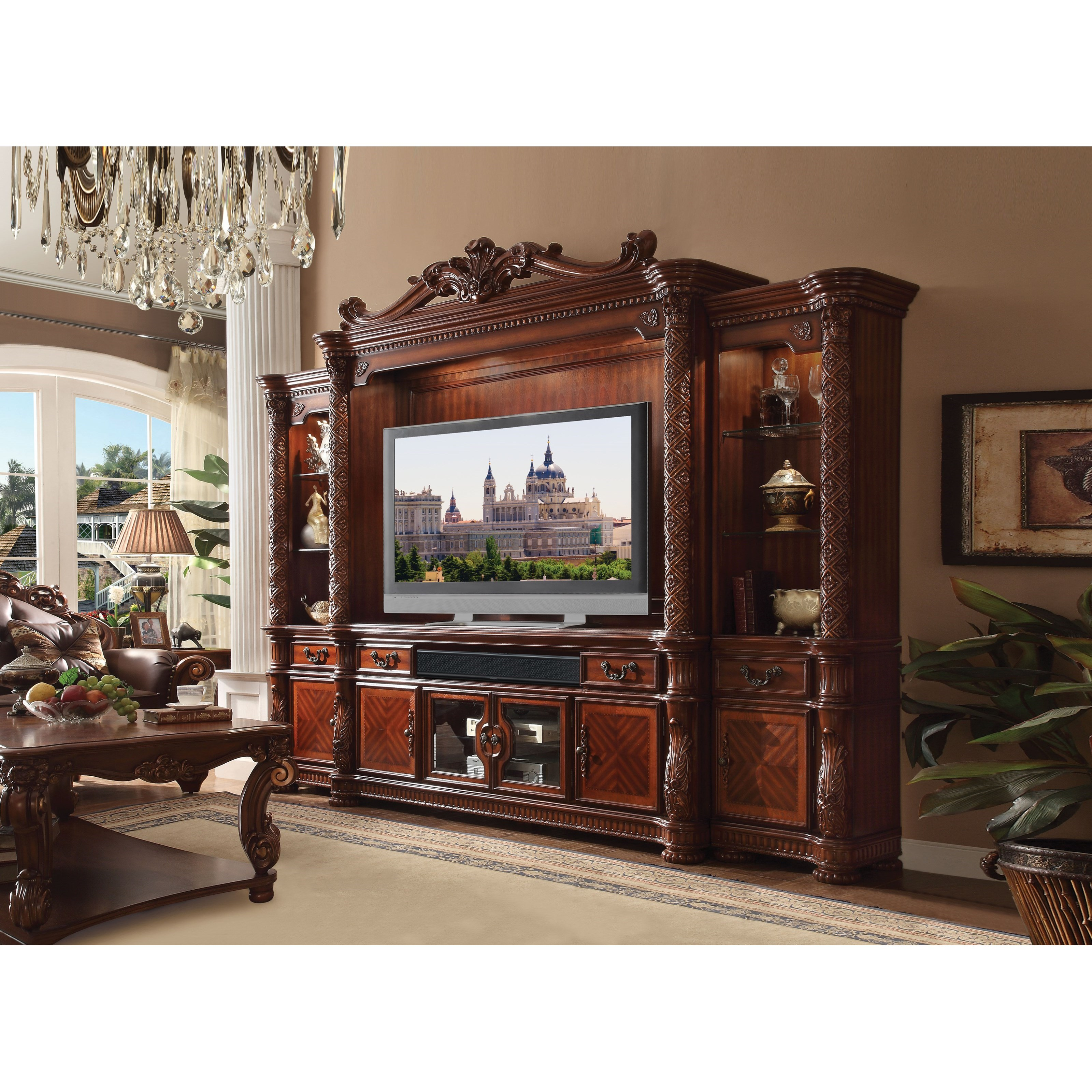 Vendome II Entertainment Center by Acme Furniture at Nassau Furniture and Mattress