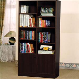 Verden Book Shelf Cabinet with 8 Shelves and 2 Doors