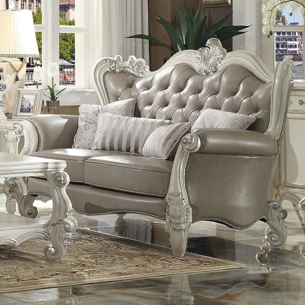 Versailles Loveseat w/4 Pillows by Acme Furniture at Carolina Direct