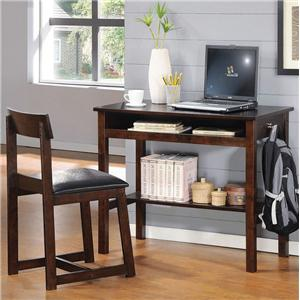 Espresso 2-Piece Desk and Padded Desk Chair