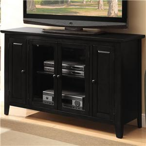 TV Stand with 4 Doors and 2 Shelves