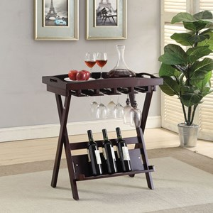 Contemporary Bar Folding Table with Removable Tray Top