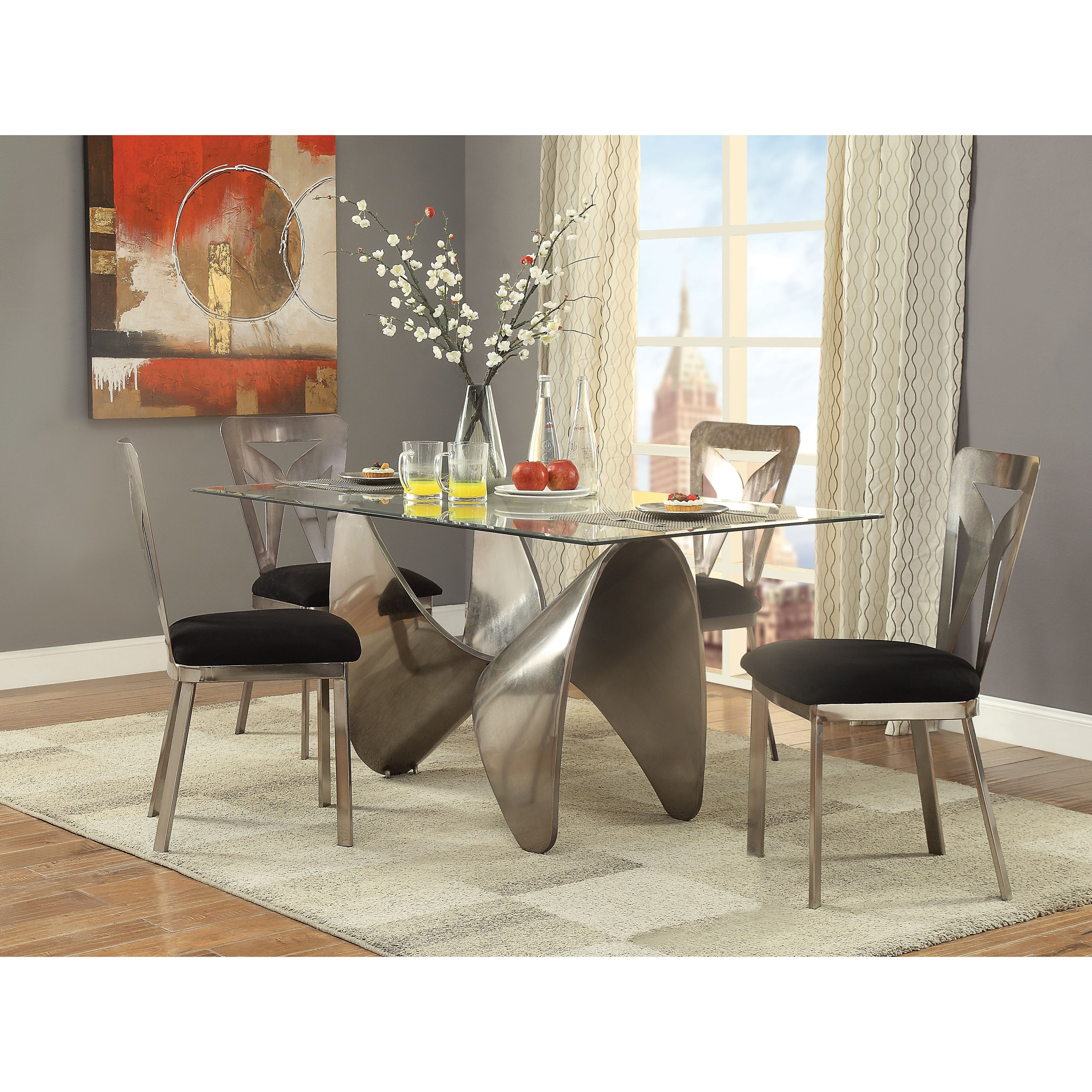 Widforss Dining Table Set with 4 Chairs by Acme Furniture at Carolina Direct