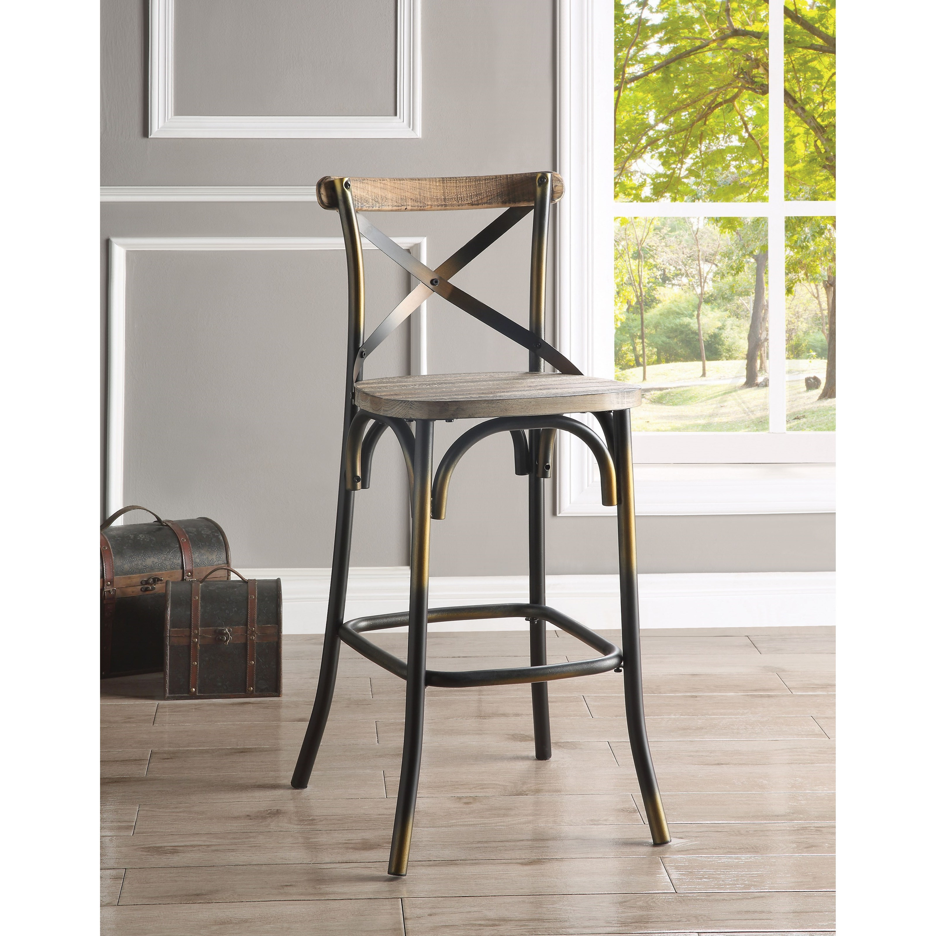 Zaire Counter Height Bar Stool by Acme Furniture at A1 Furniture & Mattress
