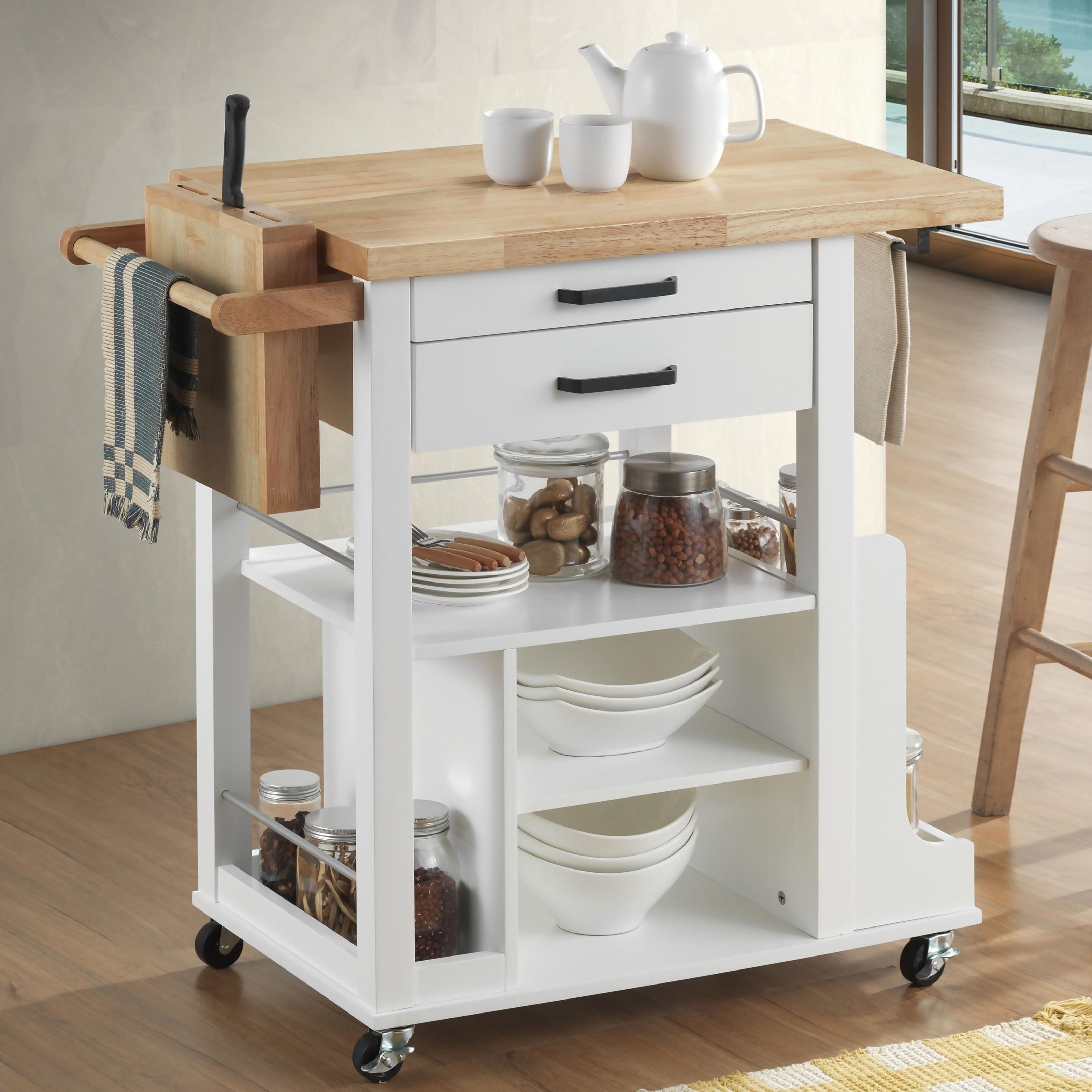 Zillah Kitchen Cart by Acme Furniture at Carolina Direct