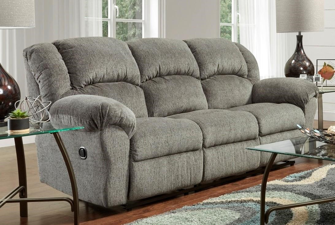 1000 Allure Grey Dual Reclining Sofa by Affordable Furniture at Furniture Fair - North Carolina