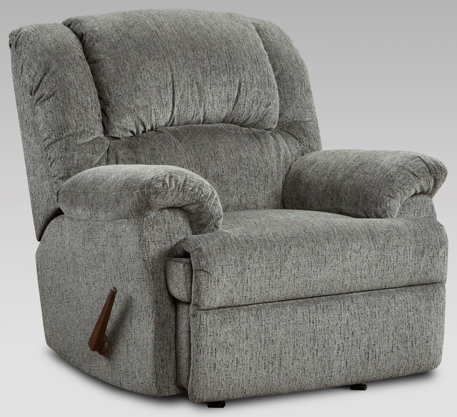 1000 Allure Grey Rocker Recliner by Affordable Furniture at Furniture Fair - North Carolina