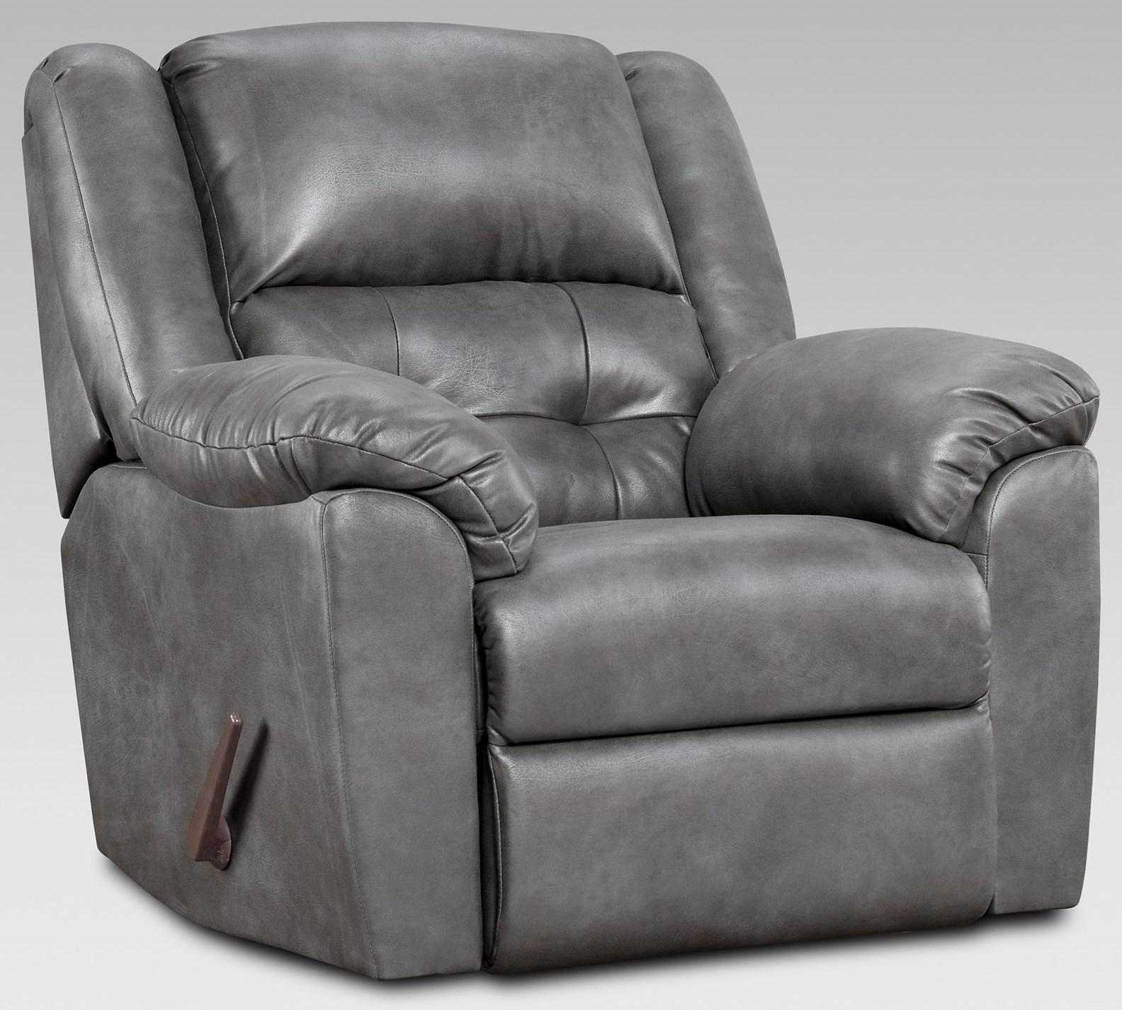 2550 Telluride Charcoal Rocker Recliner by Affordable Furniture at Furniture Fair - North Carolina