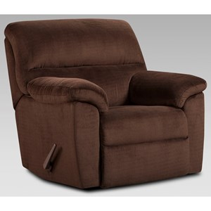 Casual Recliner with Pillow Top Arms