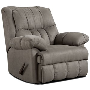 Casual Rocker Recliner for Family Rooms and Living Rooms