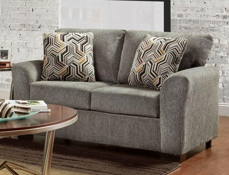3330 Allure Grey Stationary Loveseat by Affordable Furniture at Wilcox Furniture