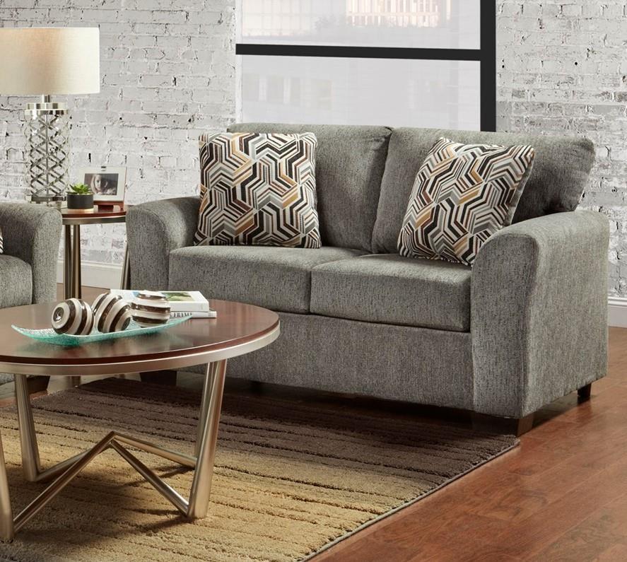 3333 3332 Grey Loveseat by Affordable Furniture at Furniture Fair - North Carolina