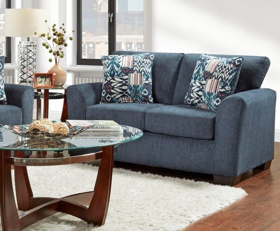 3333 3332 Navy Loveseat by Affordable Furniture at Furniture Fair - North Carolina