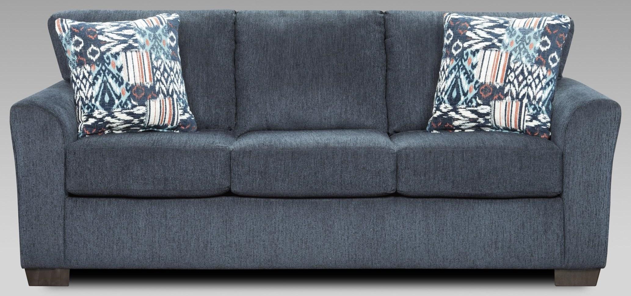 3333 3333 Navy Sofa by Affordable Furniture at Furniture Fair - North Carolina