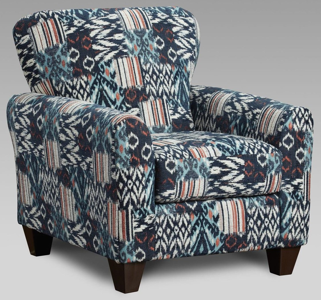 3333 9001 Navy Accent Chair by Affordable Furniture at Furniture Fair - North Carolina