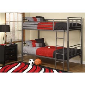 All-Metal Twin Over Twin Bunk Bed
