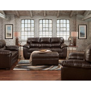 2 Piece Sofa and Loveseat Stationary Living Room Group