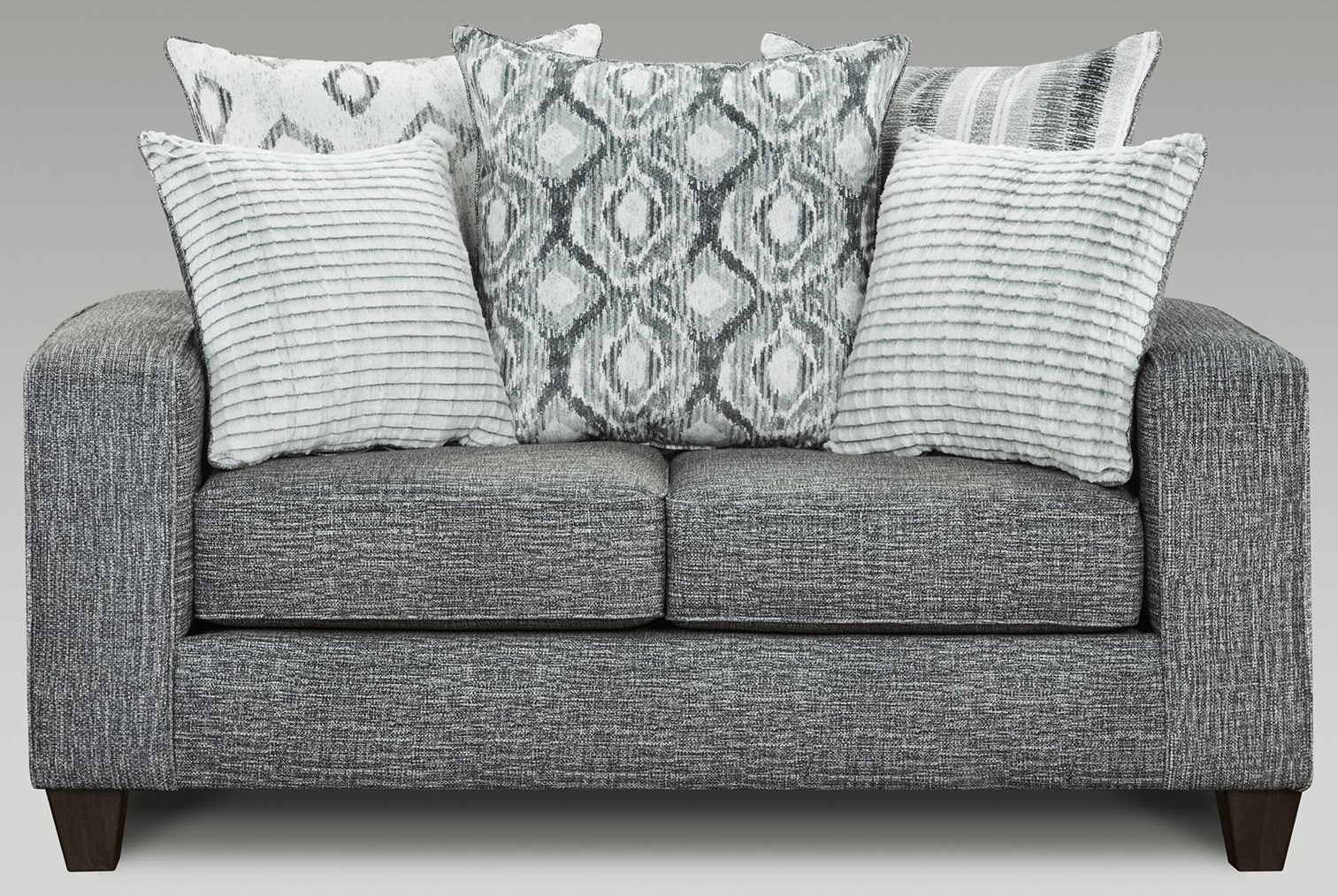 5850 Sectional Contemporary Loveseat by Affordable Furniture at Furniture Fair - North Carolina