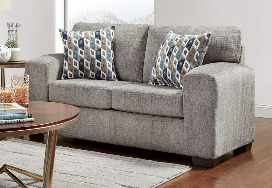 5900 PEWTER Contemporary Loveseat by Affordable Furniture at Furniture Fair - North Carolina