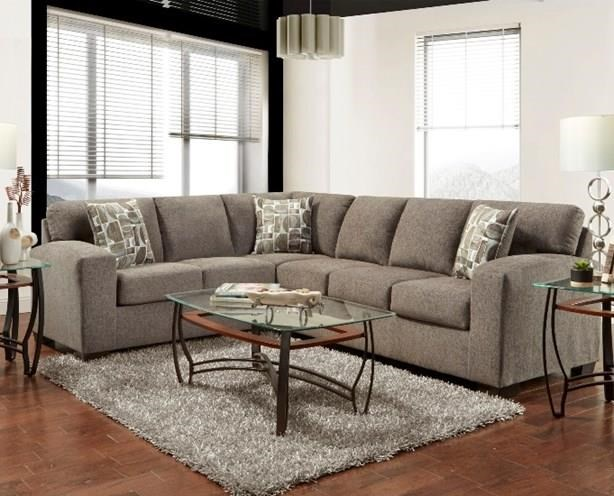 5951-5952 Sectional Two Piece Sectional Sofa-Espresso by Affordable Furniture at Furniture Fair - North Carolina