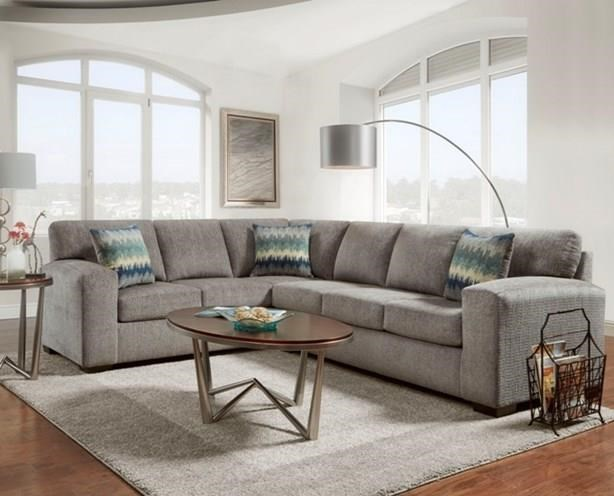 5951-5952 Sectional Two Piece Sectional Sofa- Pewter by Affordable Furniture at Furniture Fair - North Carolina