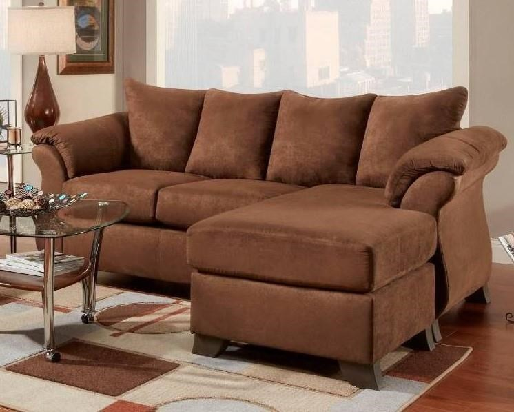 6803 Aruba Chocolate Sofa with Chaise by Affordable Furniture at Wilcox Furniture