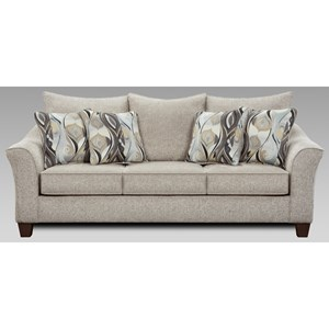 Contemporary Sofa with Flared Arms